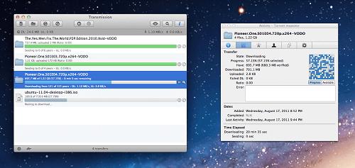 Transmission en Mac OS