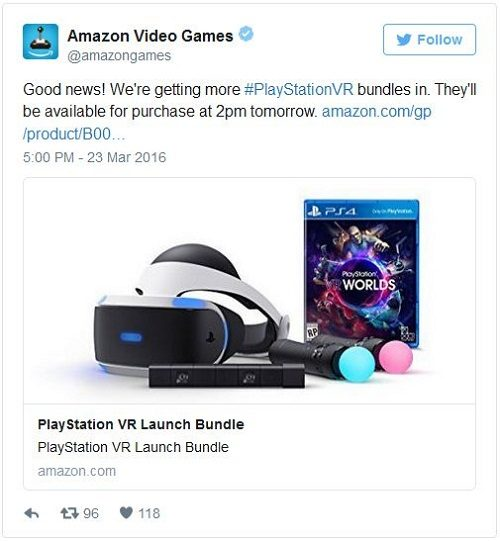 Tweet de Amazon Video Games