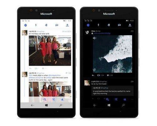 Twitter en Windows 10 Mobile