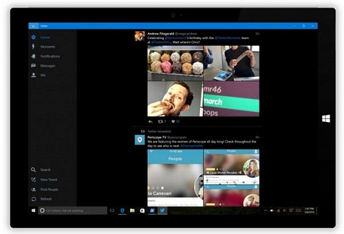 Twitter para tablets Windows