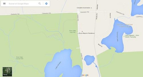 casa de bruce wayne en google maps