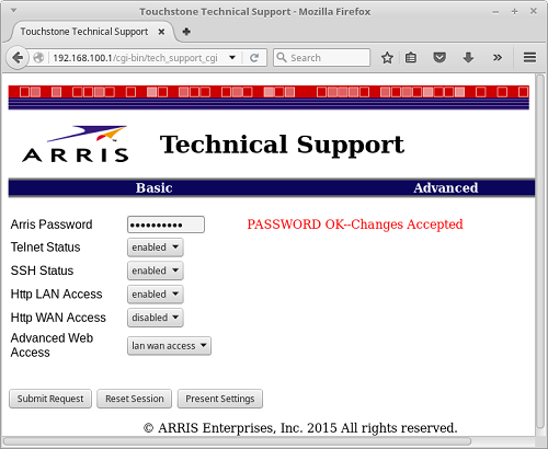 Arris interface