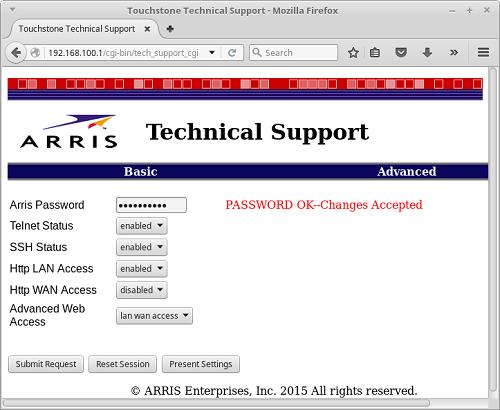 Arris interface