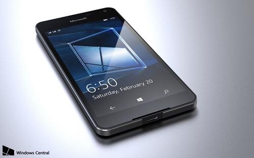 Diseño ultraligero del Lumia 650