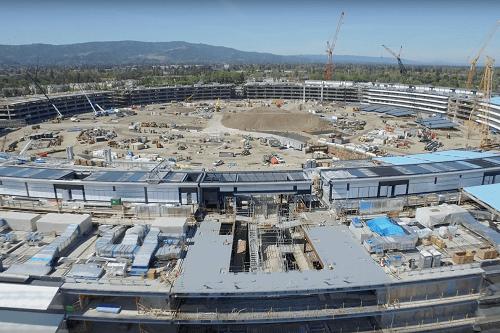 Dron ofrece un vistazo de las oficinas en construcción de la Apple