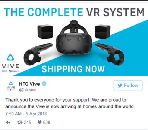 HTC Vive anuncio