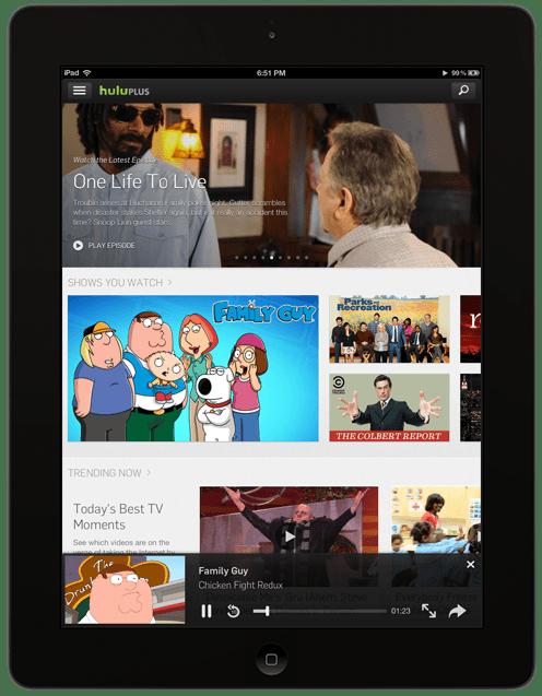 Hulu Peliculas iPad iOS