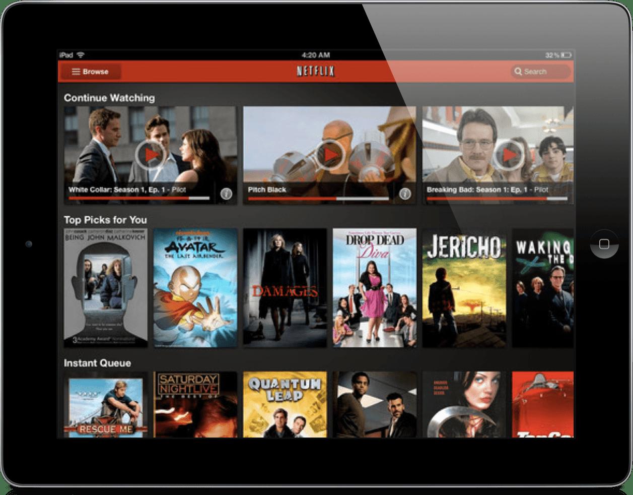 Netflix Peliculas Gratis iPad