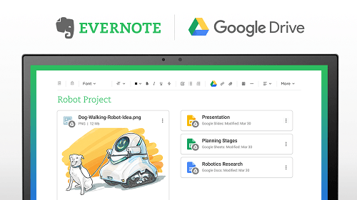 Evernote Google Drive Integracion