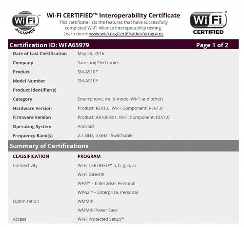 Galaxy A9 Pro WiFi