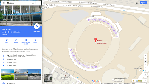 Google Maps mostrará mapas internos de arenas y estadios