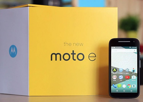 Motorola Moto E de paquete