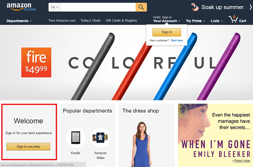 1. Acceder a Amazon