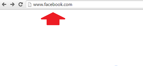 1. Ingresar la dirección de Facebook en el navegador