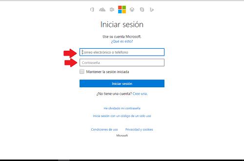 1. Ingresar los datos de la cuenta Hotmail