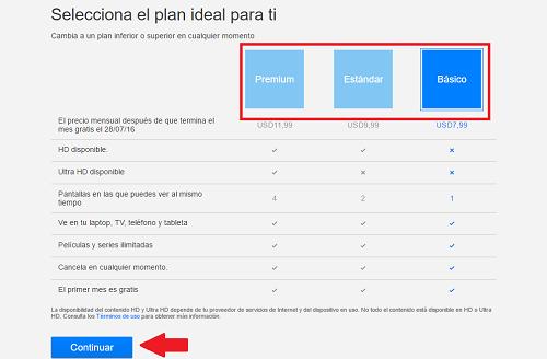 2. Seleccionar plan