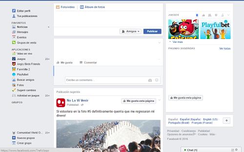 3. Entrando en Facebook