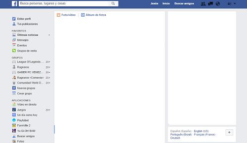 3. Inicio de sesión en Facebook