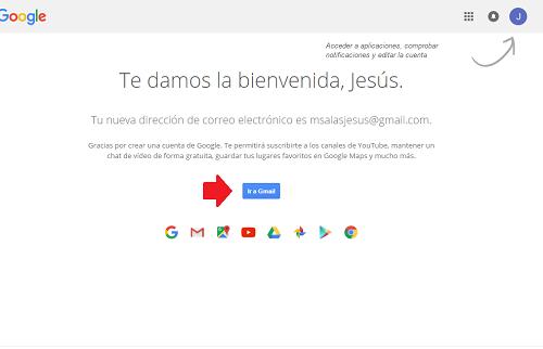 4. Cliquear en Ir a Gmail