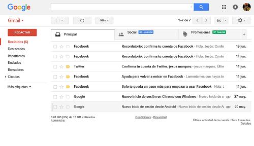 4. Gmail abierto