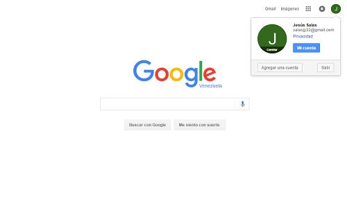 5. Cuenta de Google creada