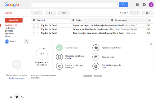 5. Gmail creado