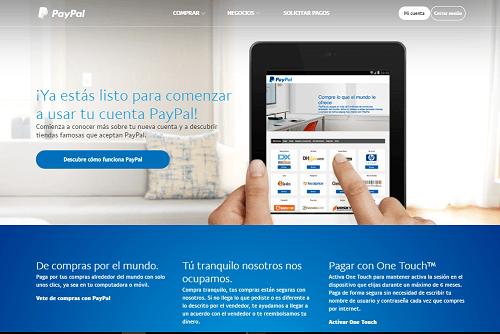 6. Cuenta registrada en PayPal