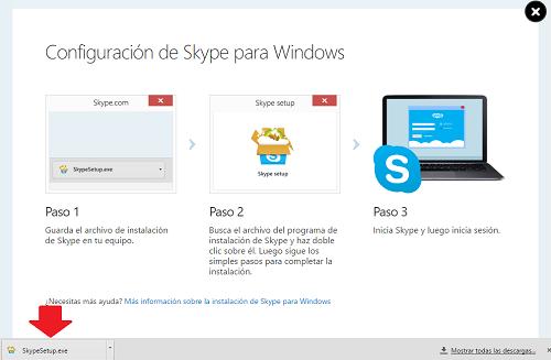 6. descargar Skype