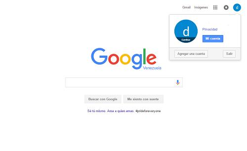 7. Cuenta registrada en Google