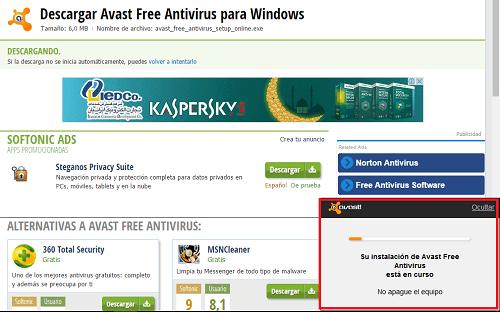 7. Esperar a que Avast instale