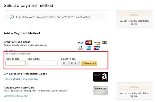8. Ingresar datos de tarjeta de crédito