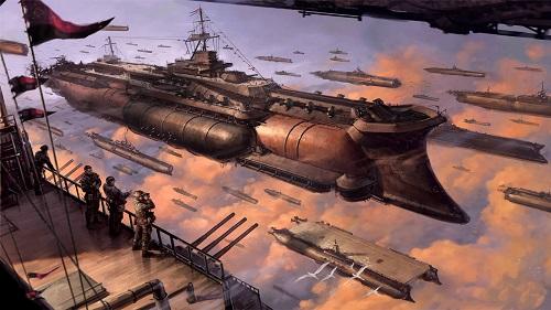 Airship es el nombre que reciben los vehículos aéreos más imponentes del jueg
