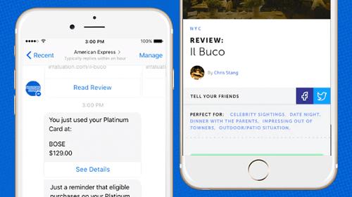 Amex Bot permitirá recibir notificaciones en Messenger sobre compras realizadas