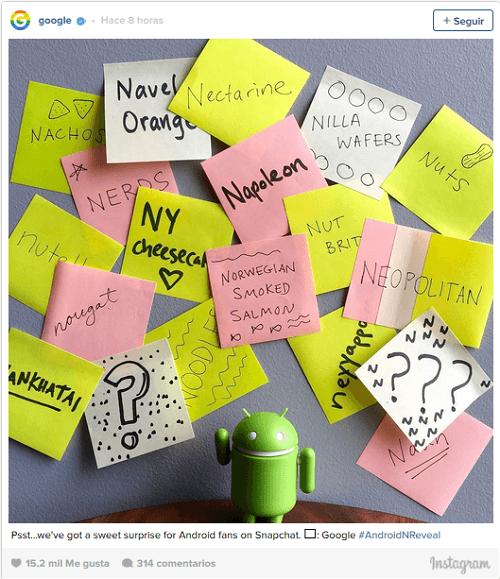 Android por fin pone nombre a su nueva versión