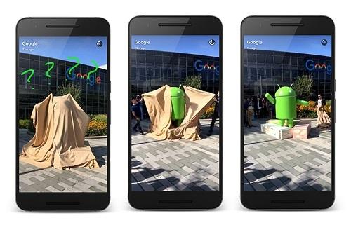 Android reveló su nueva estatua de Nougat en su Snapchat