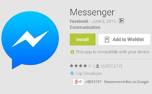 Aplicación Facebook Messenger