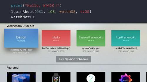 Apple TV tvOS Aplicacion