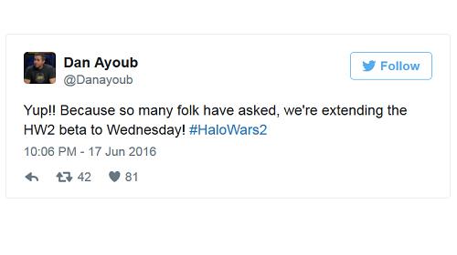 Dan Ayoub comunicó la noticia a través de su cuenta de Twitter