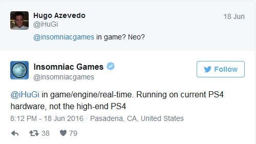 Desarrolladores confirmaron que el trailer corría en PS4