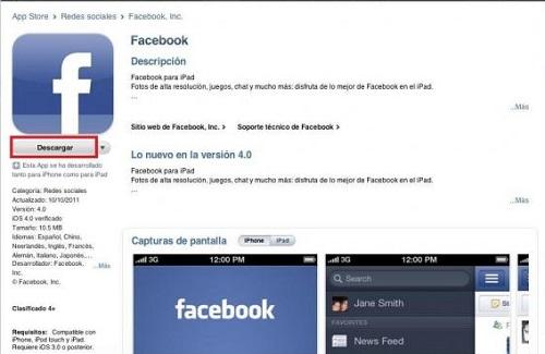 Descargar Facebook App para iOS