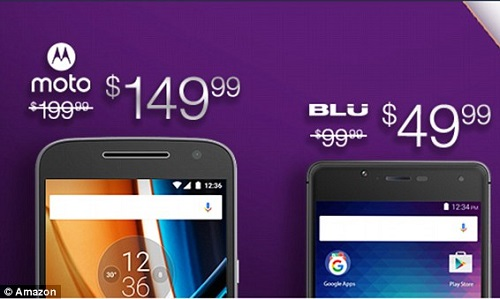 Descuentos en teléfonos Moto G y BLU RQ HD
