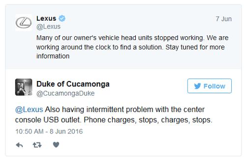Disculpa publicada por Lexus en Twitter