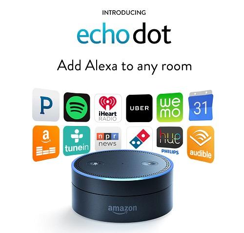 Echo Dot permite ampliar el rango del asistente de voz Alexa