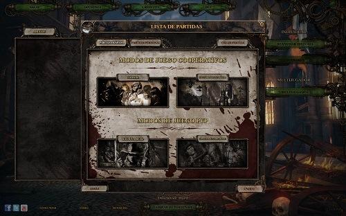 El juego permite ver los diferentes modos de partidas disponibles