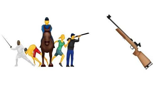 Emojis del pentatlón moderno y de rifle para Apple
