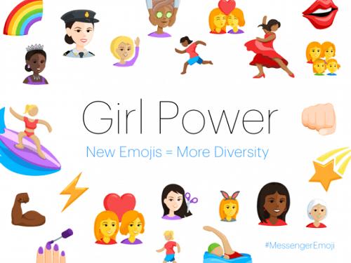 Emojis que resaltan el empoderamiento femenino también apoyan la diversidad