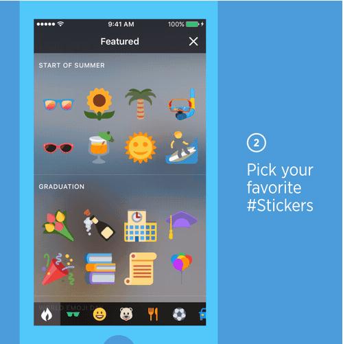 Escoge tu sticker favorito