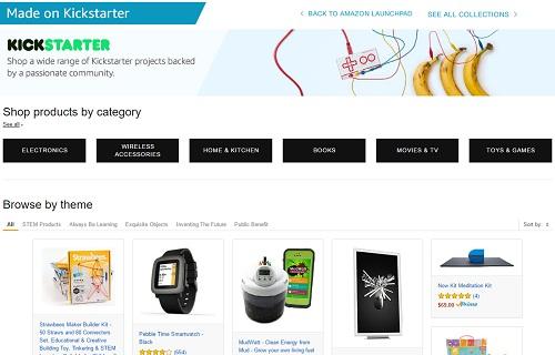 Amazon estrena nueva categoría para productos de Kickstarter