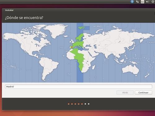 Aparecerá un gran mapa donde se ubicara con facilidad