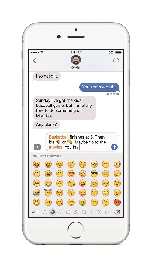Aplicación Mensajes mejorada